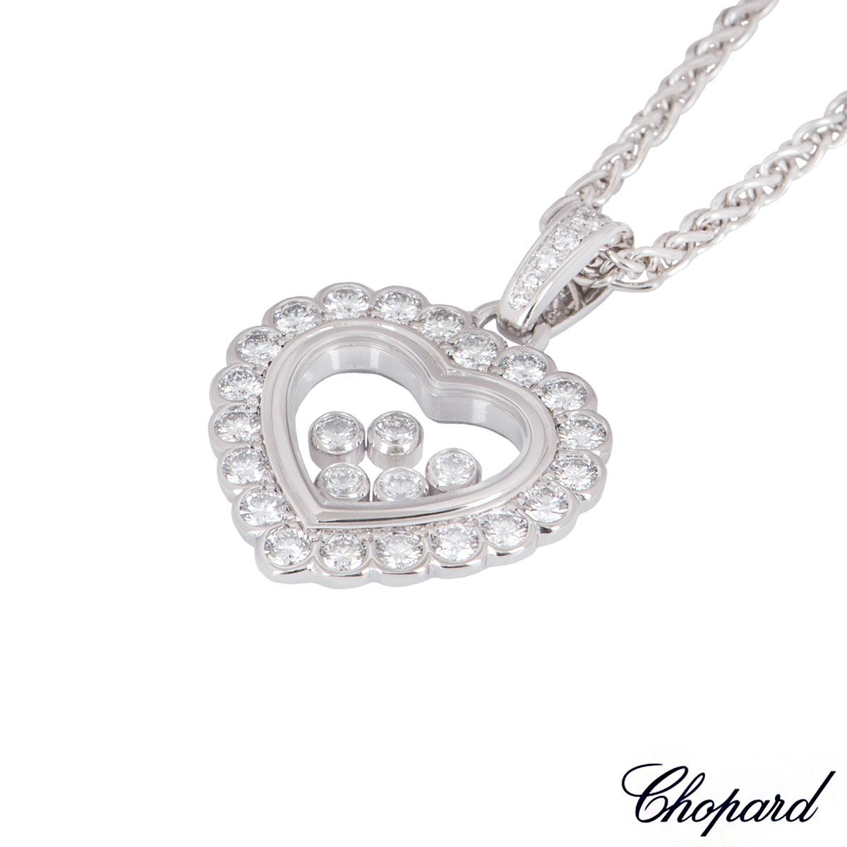 Chopard White Gold Happy Diamonds Heart Pendant 79/4758-20
